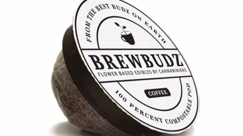 The biodegradable Brewbudz coffee pod contains 10 mg of THC, the active ingredient in marijuana.