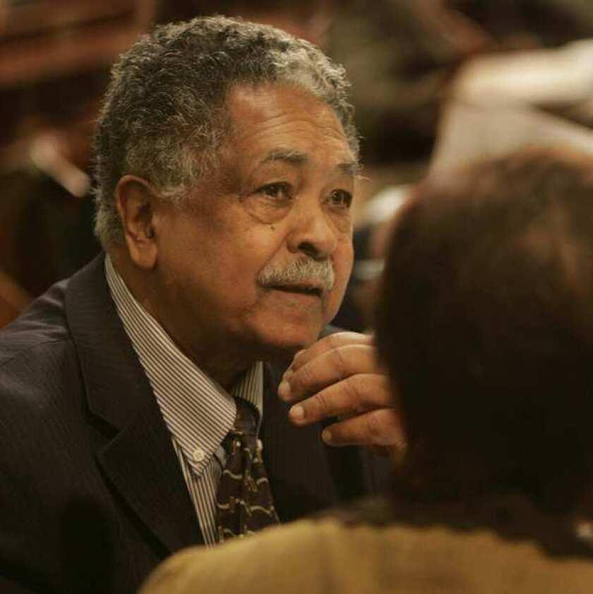 Assemblyman Mervyn Dymally (D-Los Angeles) in Sacramento in April, 2006. Dymally has died at age 86.