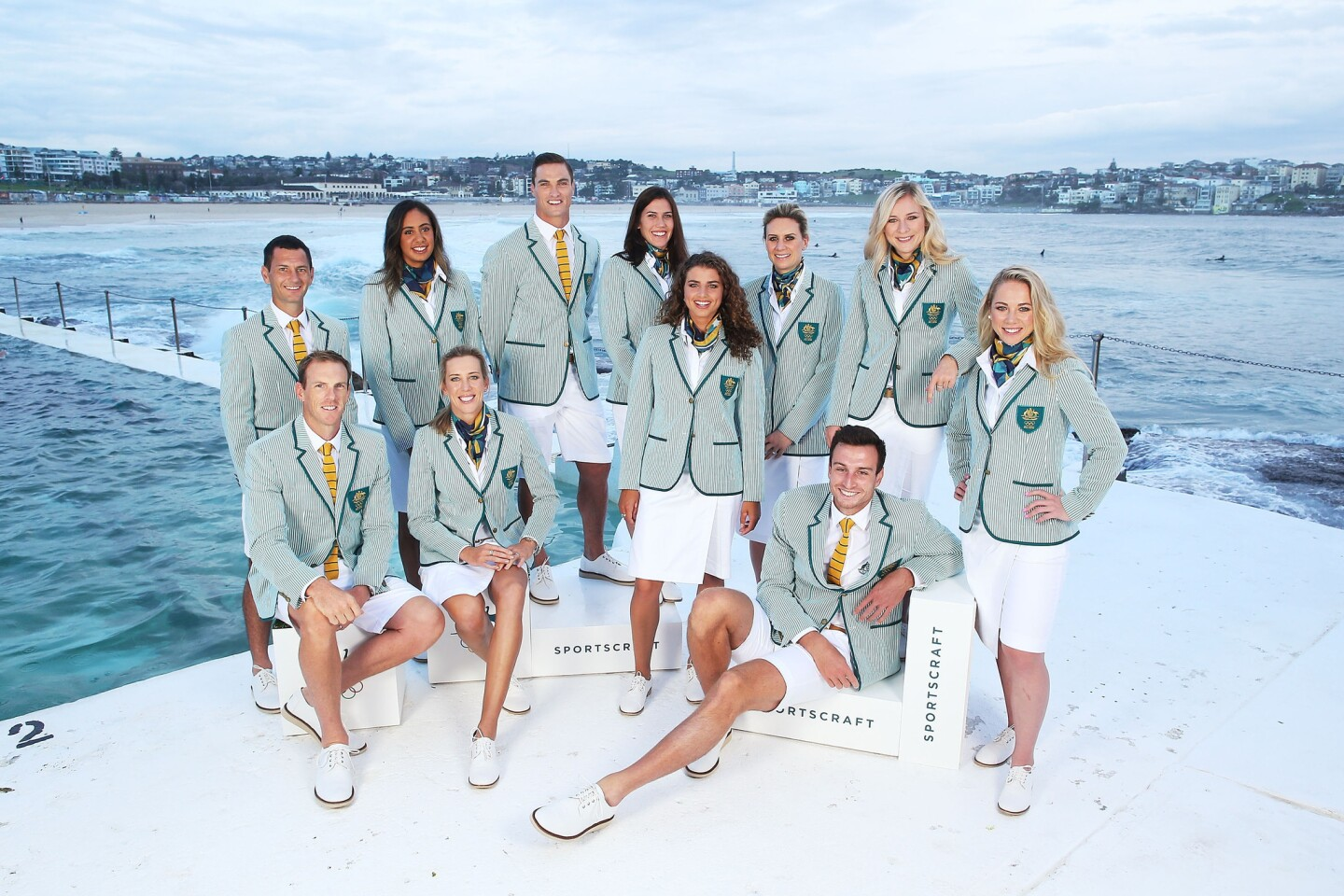 The look of Australia's Sportscraft-designed opening ceremony uniforms is inspired by the outfits worn by the Aussie team in the 1924 Paris Olympics.