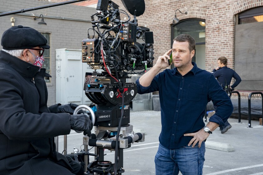 """Chris O'Donnell on the set of """"NCIS: Los Angeles"""""""