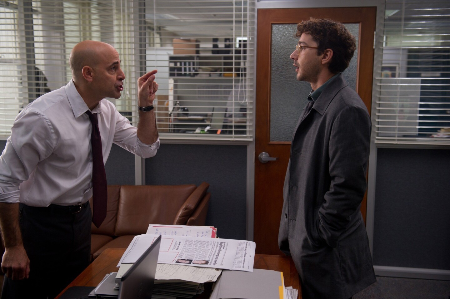 """Stanley Tucci, left, and Shia LaBeouf in a scene from """"The Company You Keep."""""""