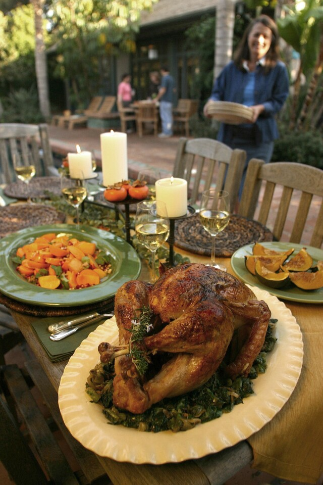 Makes it worth roasting turkey even when it's not Thanksgiving. Recipe: Rosemary-Meyer lemon turkey with wilted escarole