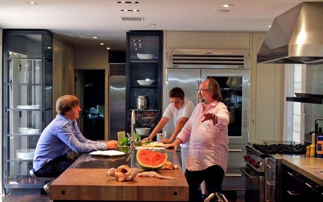 Chef Joaquim Splichal's home kitchen