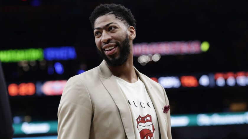 Pelicans forward Anthony Davis is sidelined with a fractured finger.