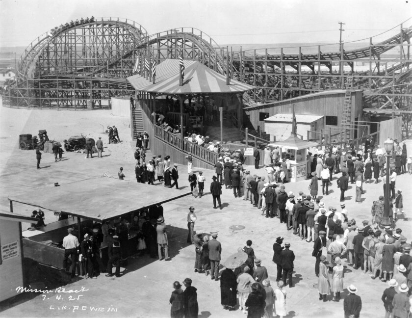 Belmont Park on opening day -- July 4, 1925. / Credit: San Diego Historical Society Photograph Collection
