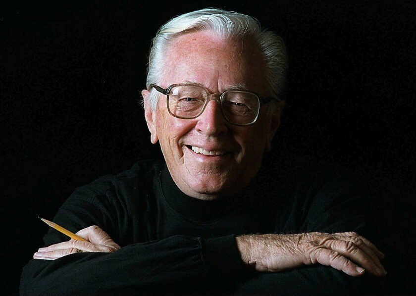 Charles Schulz is shown in a 1997 photo in Santa Rosa, Calif.
