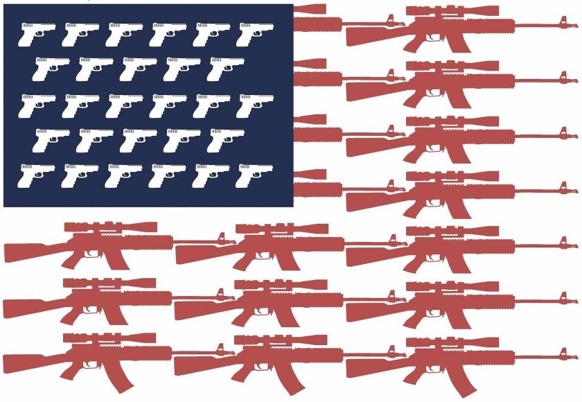 David Horsey illustration on guns in America