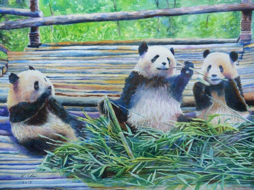 'Three pandas' by Joseph Chen