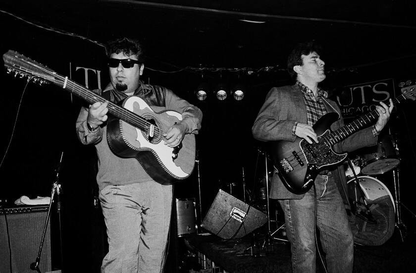 Los Lobos performing at Tuts in Chicago on Feb. 5, 1984.