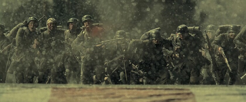 """Chinese soldiers face overwhelming forces in """"The Eight Hundred."""""""
