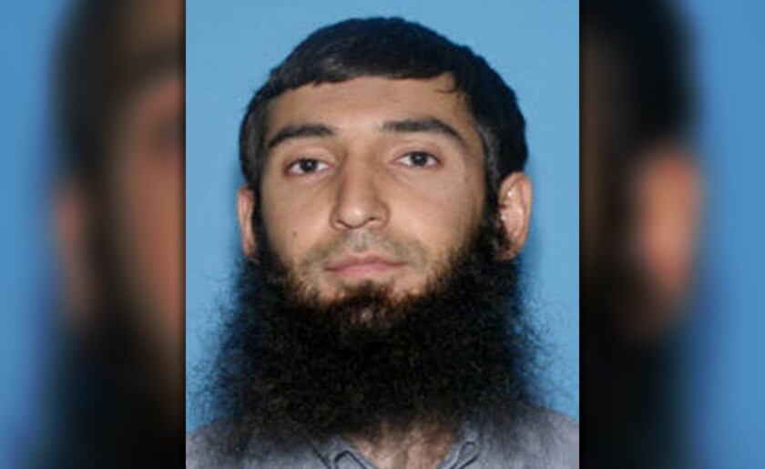 Sayfullo Saipov, the suspect in the New York City truck attack, is seen in this undated handout photo.