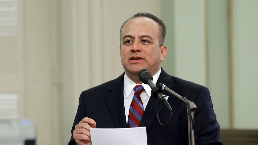 Assemblyman Raul Bocanegra speaks at the Capitol in Sacramento earlier this year.