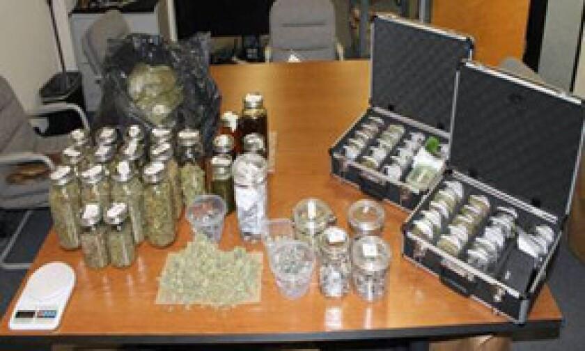 Marijuana seized by police in Oxnard on Wednesday is shown.