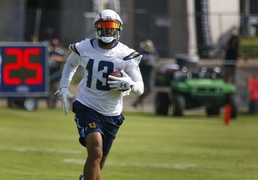 San Diego Chargers wide receiver Keenan Allen during the first day of training camp for the 2016 season at Chargers Park in Murphy Canyon.
