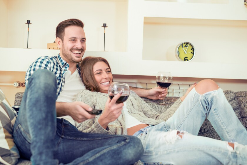 Grab a great local wine and turn on a romantic movie for a great date night.