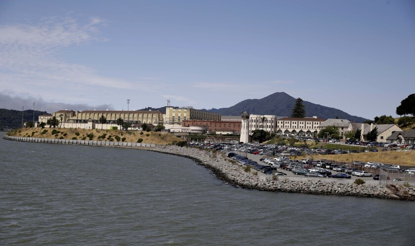 The San Quentin State Prison, which houses the 729 men on California death row. There are 21 women on death row at the Central California Women's Facility near Chowchilla.