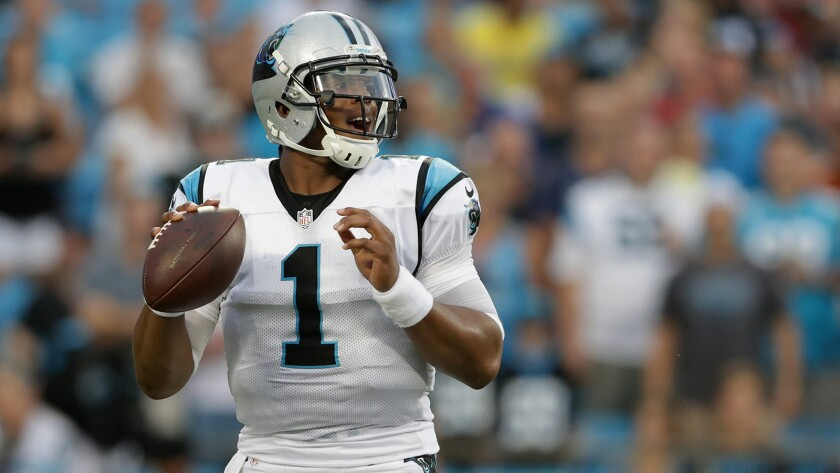 Cam Newton has not played since sustaining a concussion Oct. 2 in a game against the Falcons.