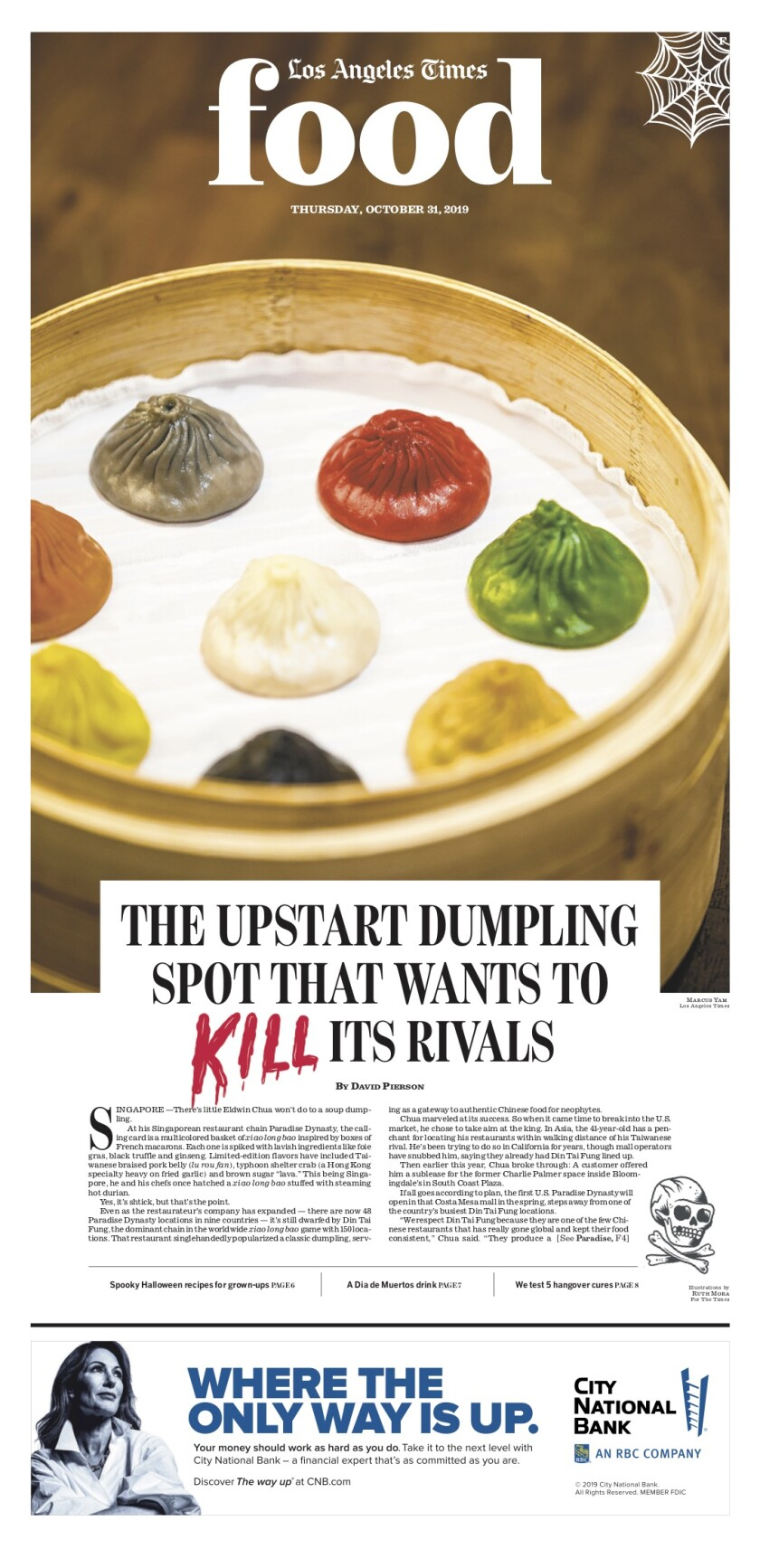 Los Angeles Times Food cover, October 31, 2019