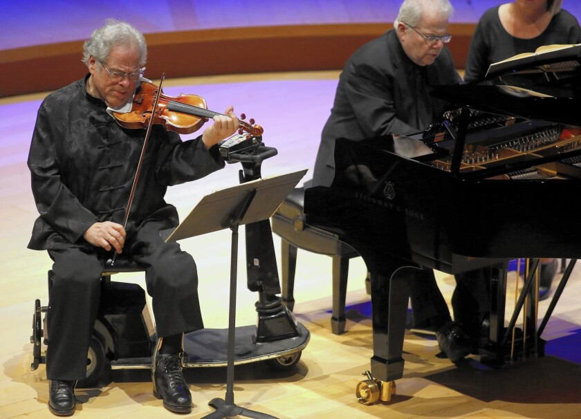 Itzhak Perlman revisits moments of early greatness with pianist Emanuel Ax