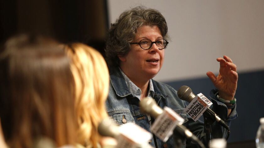 Meg Wolitzer speaks on the Connections and Consequences panel during the 20th Los Angeles Times Fest