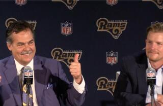 Jeff Fisher and Les Snead discuss selecting Jared Goff with No. 1 pick