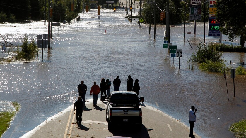 Floodwaters in Nashville, N.C.