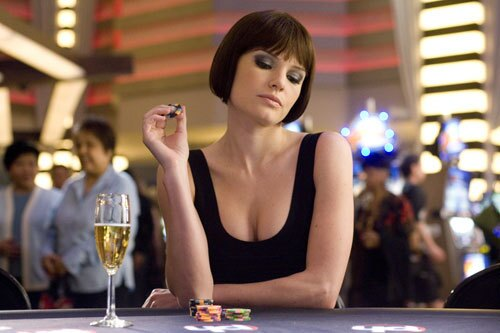 "Kate Bosworth stars in the movie ""21,"" which was mostly filmed at Planet Hollywood in Las Vegas."