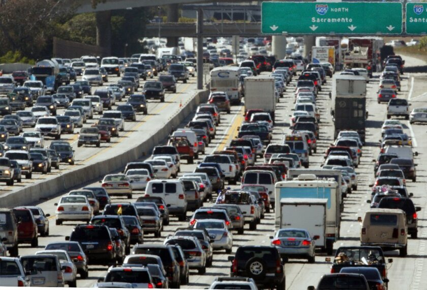 Memorial Day rush hour commute begins in Los Angeles.