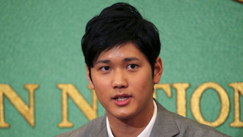 Japanese free agent Shohei Ohtani has until Dec. 22 to sign with a major league team.