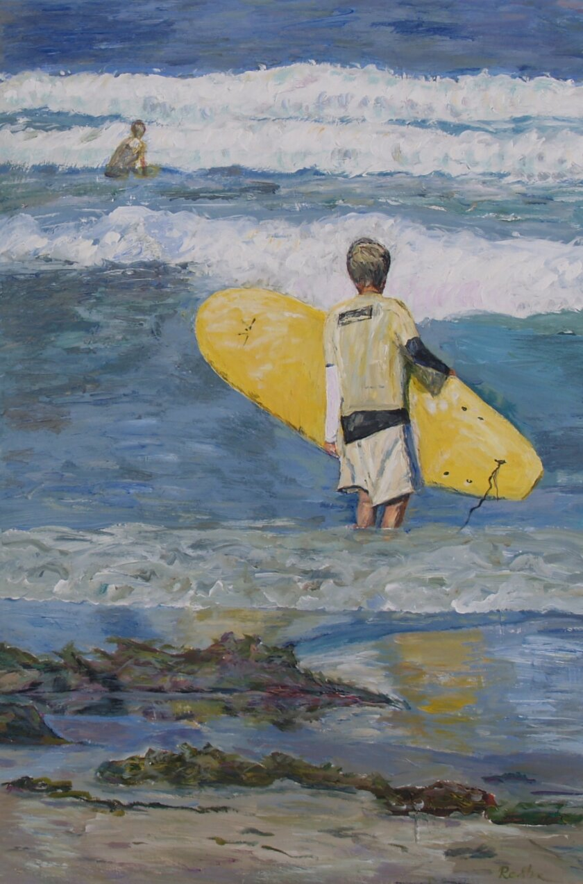 'Surfer' by Renata Shafer, 2008, acrylic 36 x 24 inches