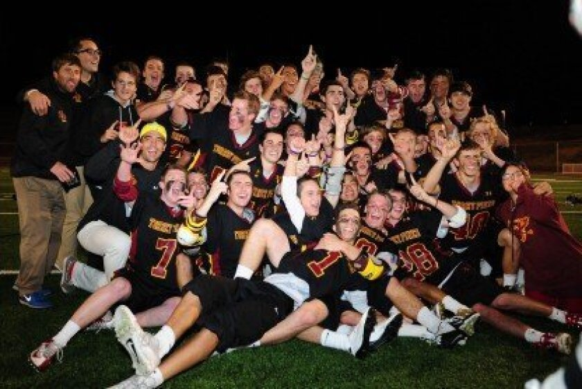 Winning TPHS Lacrosse Team Photo/Anna Scipione