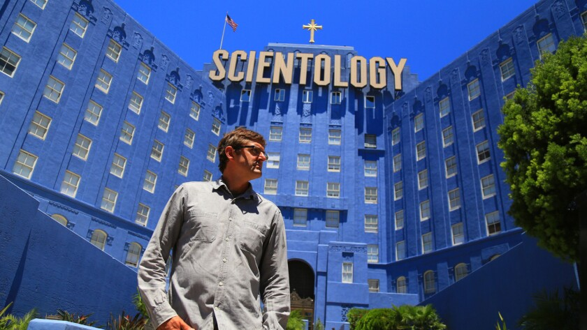 """Louis Theroux in the documentary """"My Scientology Movie."""""""