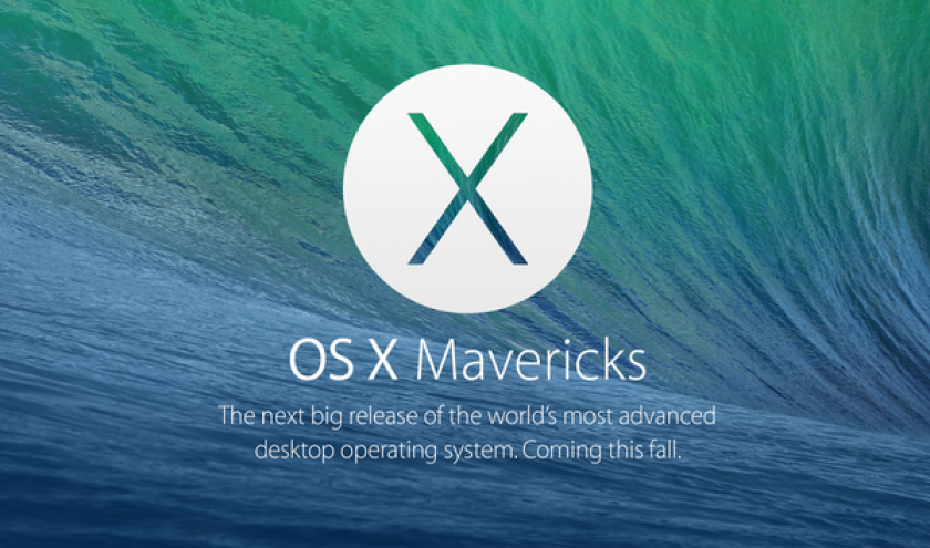 Mavericks OS X as it is promoted on Apple's website.