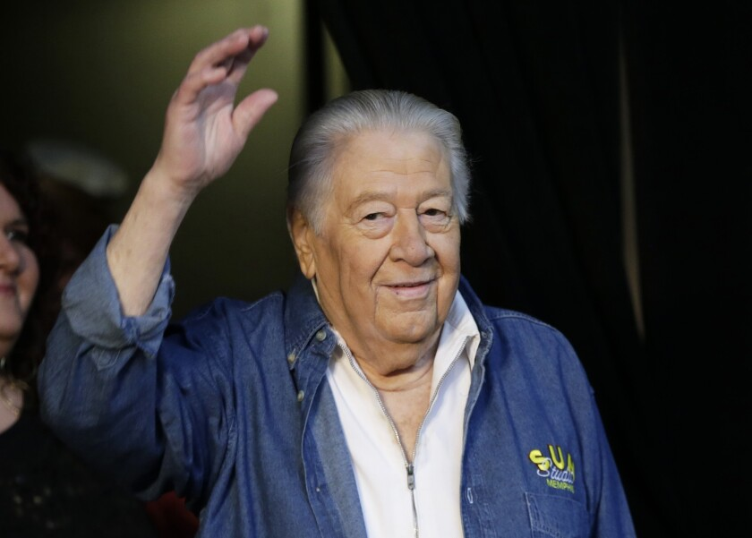 Jack Clement, shown in April at the Country Music Hall of Fame in Nashville, helped birth rock 'n' roll and push country music into modern times. He died Thursday morning at age 82.