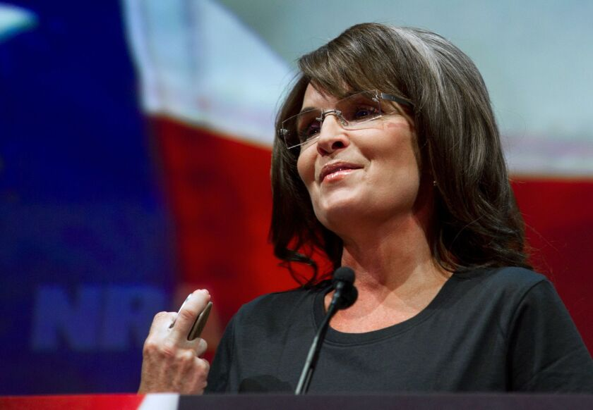 """Former Alaska governor and Republican vice presidential candidate Sarah Palin, shown last year, has launched """"The Sarah Palin Channel."""""""