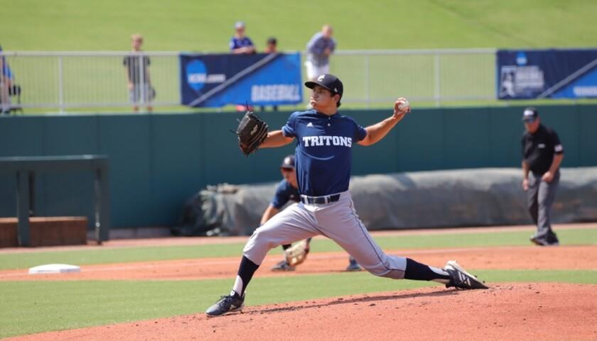 UC San Diego senior left-hander Preston Mott limited Catawba College to four hits over 6 2/3 shutout innings.