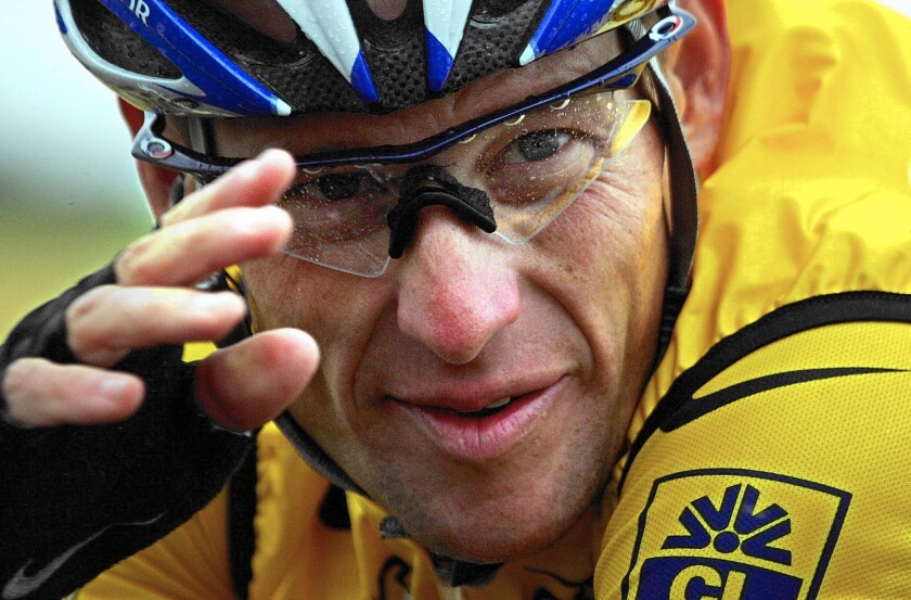 Lance Armstrong during the fifth stage of the 2004 Tour de France.