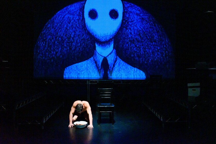"""""""Department of Dreams"""" at City Garage employs projections by theater co-founder Charles A. Duncombe."""