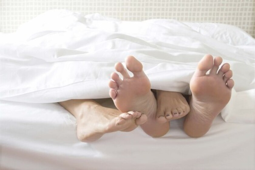 RECHARGING? Some scientists wonder if the unconscious erections that occur when a man sleeps might be the body's way of making sure oxygen levels in penile tissue stay high.