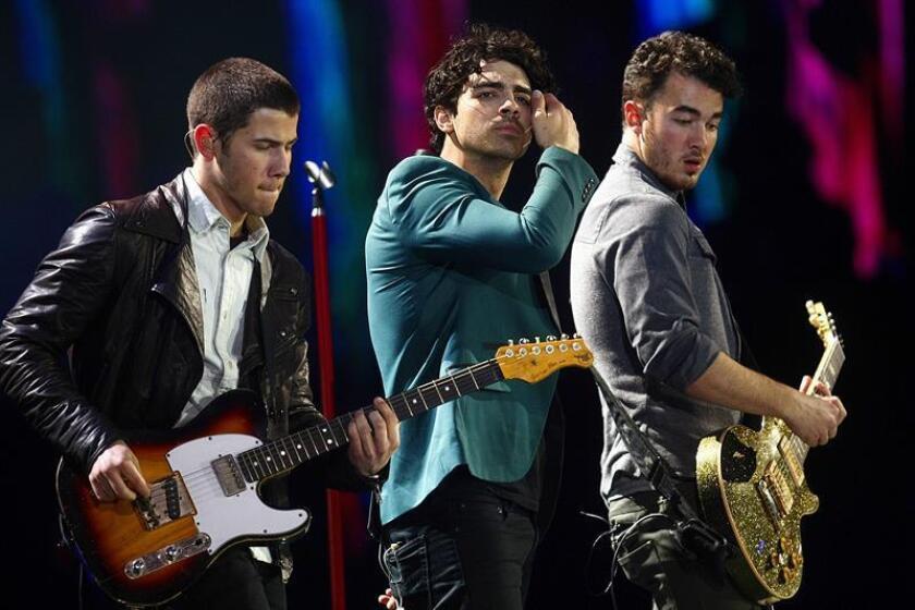 Fotografía de archivo del grupo estadounidense Jonas Brothers. EFE/Archivo