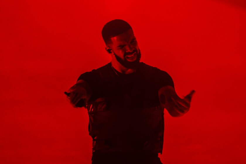 LOS ANGELES, CA -- FRIDAY, OCTOBER 12, 2018-- Drake perform in concert at the Staples Center on Frid