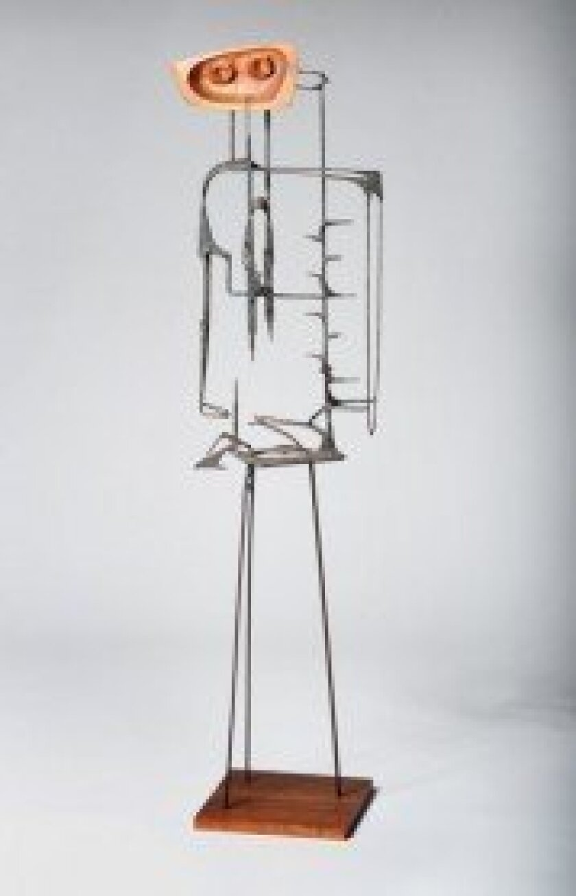 Charles Luedtke, 'Centurion,' c. 1962, welded steel and carved walnut. Private collection.