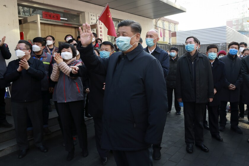 Op-Ed: Xi Jinping rules China by intimidation and police coercion. Those don't work on coronaviruses