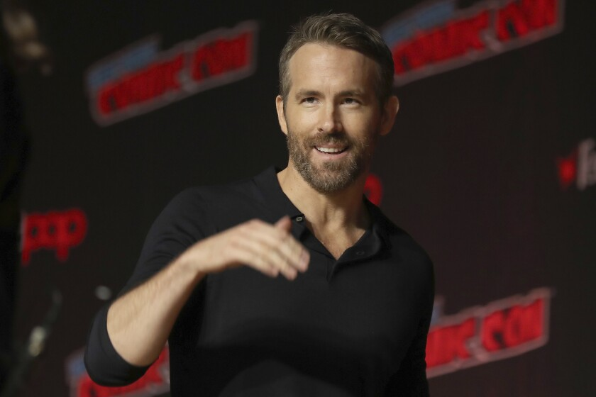 En esta foto del 3 de octubre de 2019, el actor Ryan Reynolds durante el New York Comic Con.
