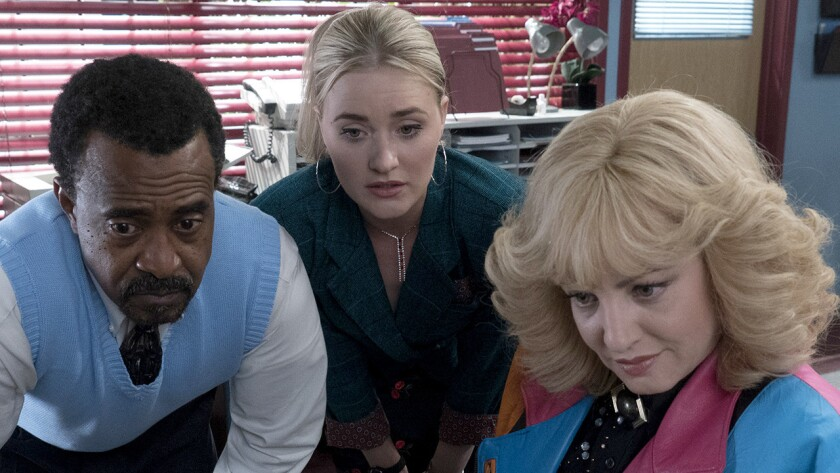 """Tim Meadows, left, AJ Michalka and Wendi McLendon-Covey in """"Schooled"""" on ABC."""