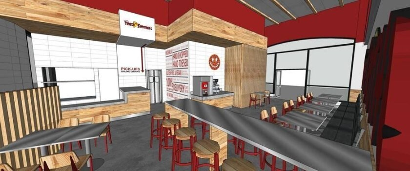 A rendering of the new Fresh Brothers coming to The Village.
