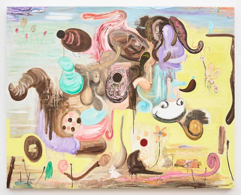 Review: Victor Estrada paintings play out like landscapes of a dream world