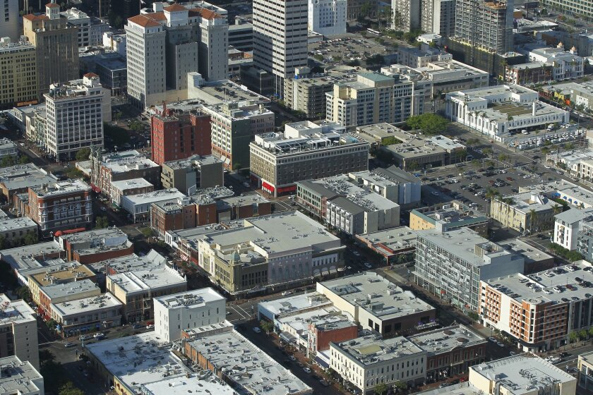 Downtown San Diego has many of the same buildings it did 100 years ago.
