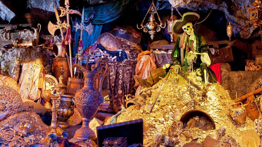 The treasure room in the Pirates of the Caribbean ride, which marks its 50th anniversary on March 18 at Disneyland Park in Anaheim.