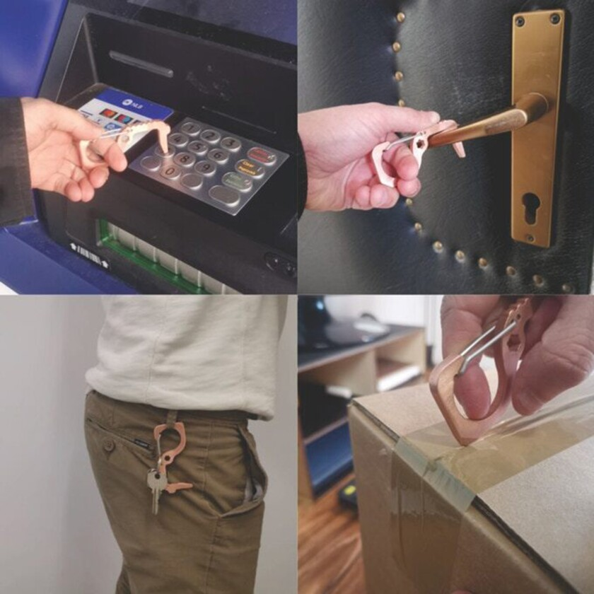 The Stay-Safe Carabiner in action. Credit: The Stay-Safe Carabiner via Kickstarter
